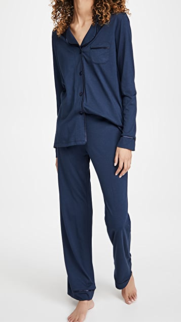 Cosabella Bella Pima Long Sleeve Top & Pant PJ Set