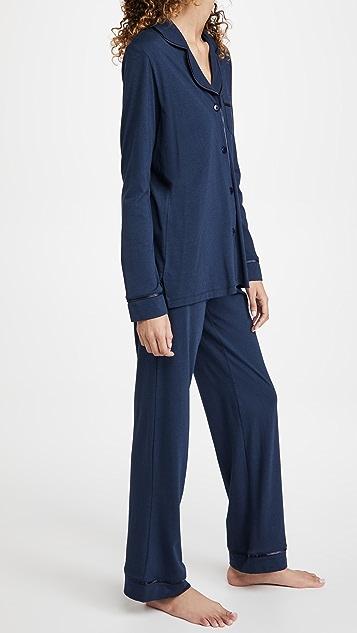Cosabella Bella 皮玛棉长袖上衣和长裤睡衣套装