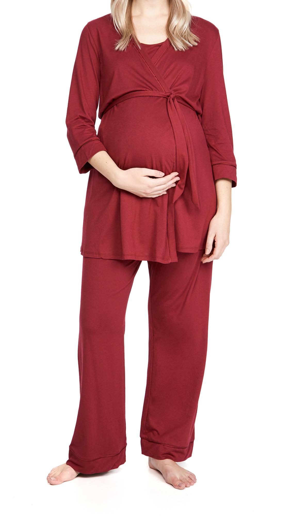Cosabella Bella Pima Mat 3 Piece Robe Cami & Pants
