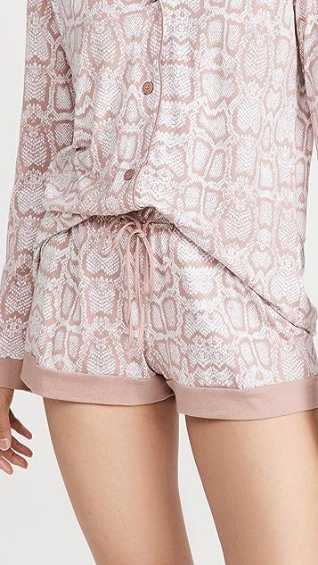 Cosabella Bella Long Sleeve Top and Shorts PJ Set