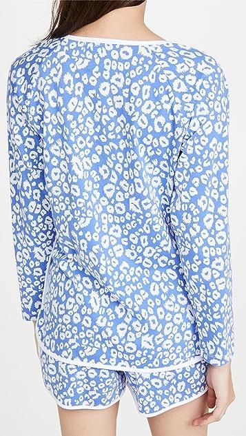 Cosabella Florida 长袖上衣和平角短裤睡衣套装