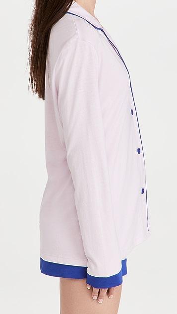 Cosabella Bella Long Sleeve Top Boxer PJ Set