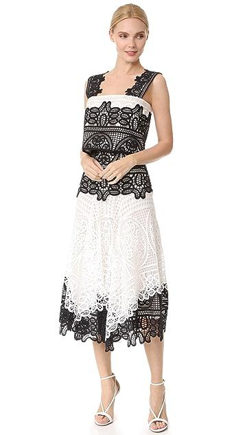 Costarellos High Waist Contrast Skirt