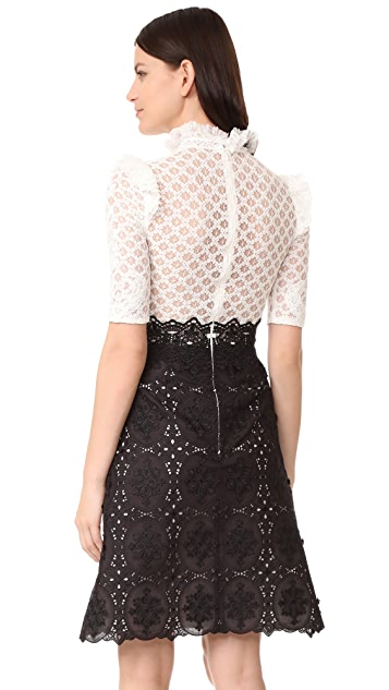 Costarellos Short Sleeve Dress