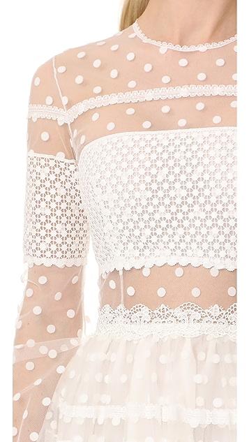 Costarellos Платье с длинными рукавами