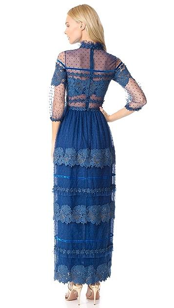 Costarellos High Neck Dress