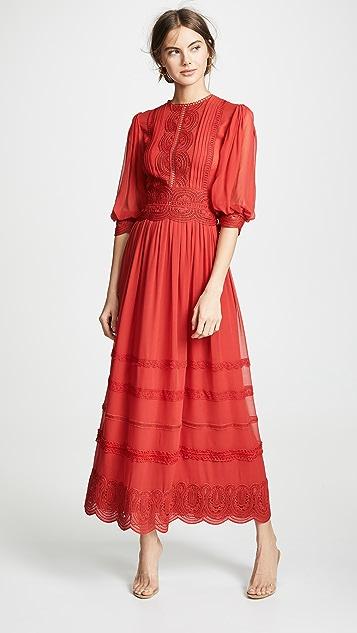 3 4 Sleeve Lace Dress