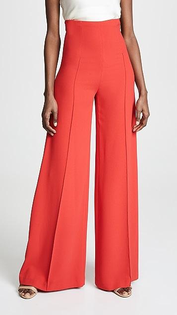 Costarellos High Waist Wide Leg Trousers
