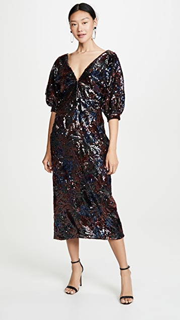 Costarellos Sequin Dress