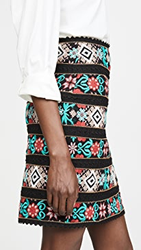 Cross Stitch Embroidered Skirt