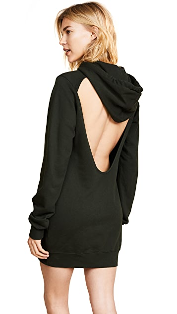Cotton Citizen The Milan Backless Hoodie Mini Dress