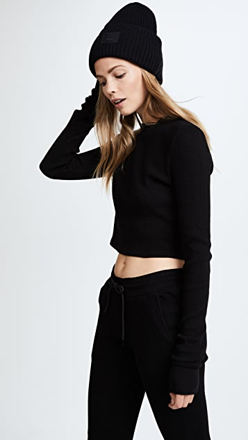 Cotton Citizen The Monaco Crop Thermal Long Sleeve