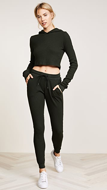 Cotton Citizen The Monaco Crop Thermal Hoodie