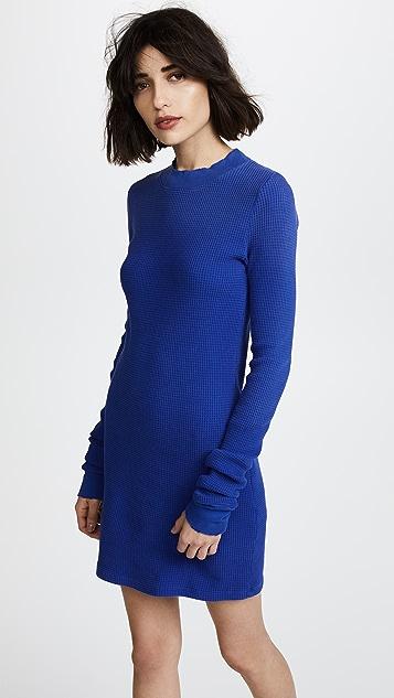 Cotton Citizen The Monaco Long Sleeve Mini Dress - Cobalt Mist