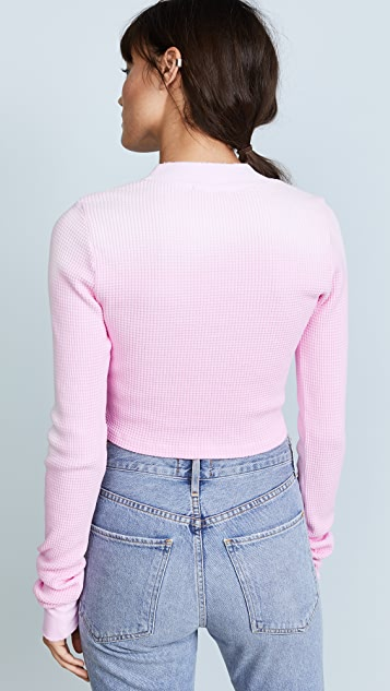 Cotton Citizen The Monaco Crop Long Sleeve Thermal