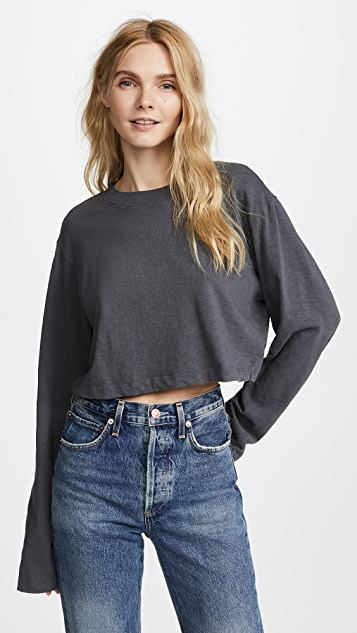 Cotton Citizen The Tokyo Crop Long Sleeve Tee