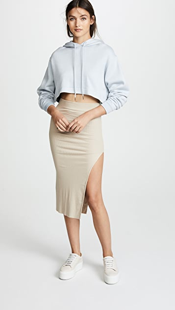 Cotton Citizen The Melbourne Midi Skirt with Slit
