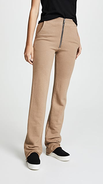 Cotton Citizen The Manhattan High Waisted Trousers - Tan