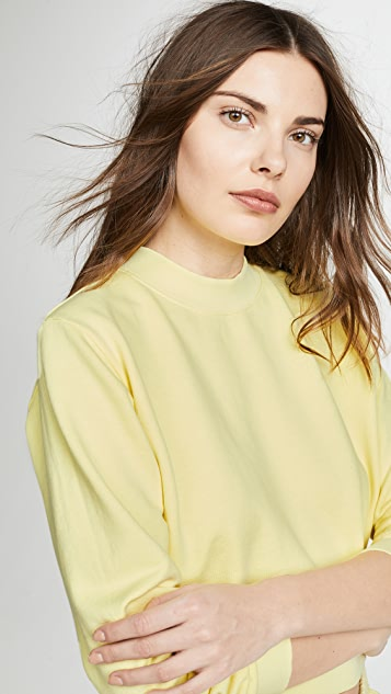 Cotton Citizen The Milan Crop Crew Sweatshirt