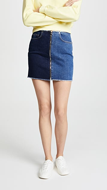 Cotton Citizen The Mini Zip Skirt