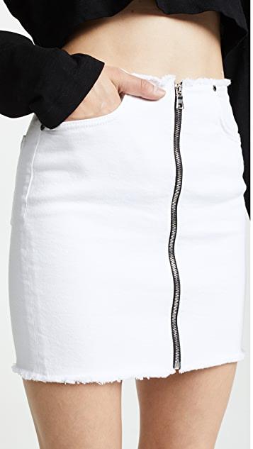 Cotton Citizen The Mini Zip Skirt