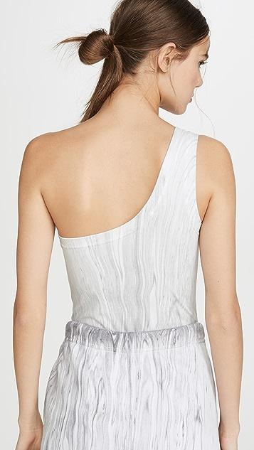Cotton Citizen Marble Brisbane Thong Bodysuit