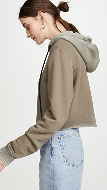 Cotton Citizen Brooklyn Crop Zip Sweatshirt
