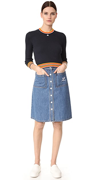 Courreges Snap Midi Skirt