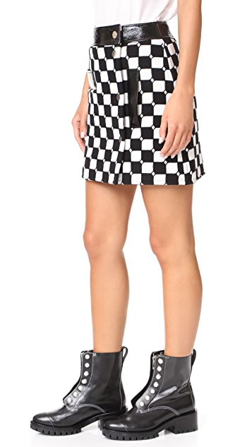 Courreges Check Miniskirt
