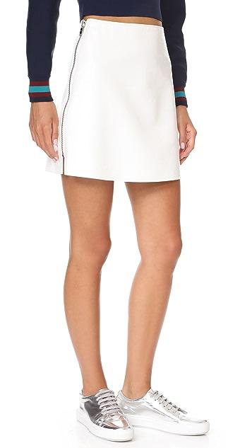 Courreges Side Zip Miniskirt