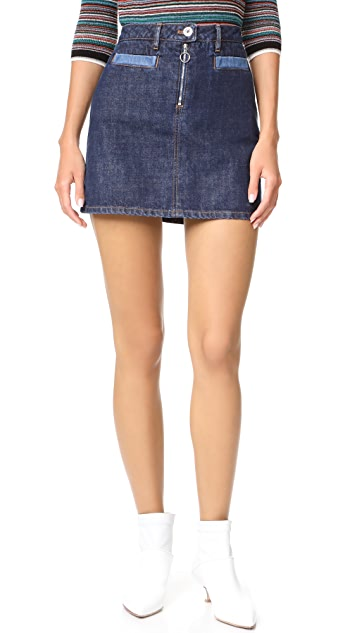 Courreges Denim Miniskirt