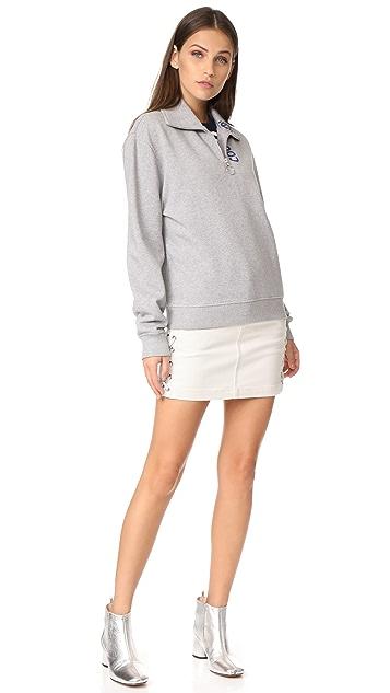 Courreges Zip Neck Sweatshirt