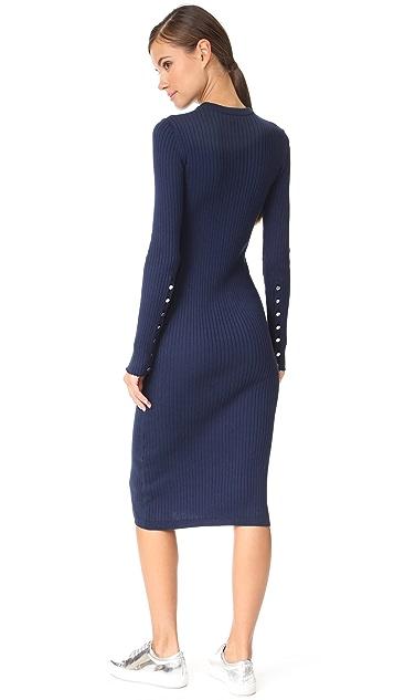 Courreges Open Wrist Midi Dress