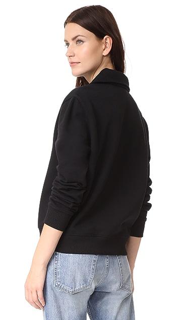 Courreges Sweat Shirt Logo Zipped Neck Logo