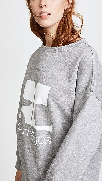 Courreges Fleece Logo Sweatshirt