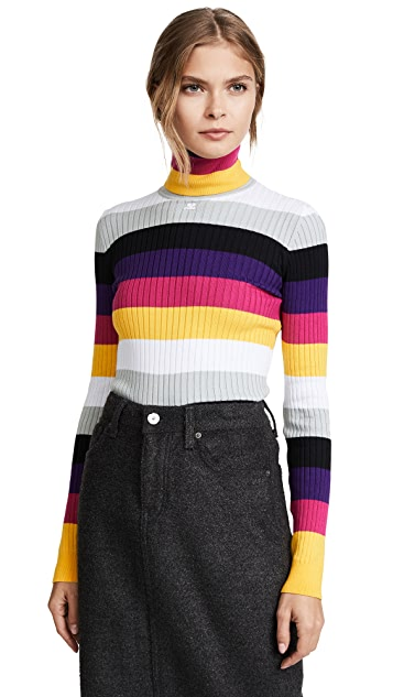 Courreges Striped Turtleneck