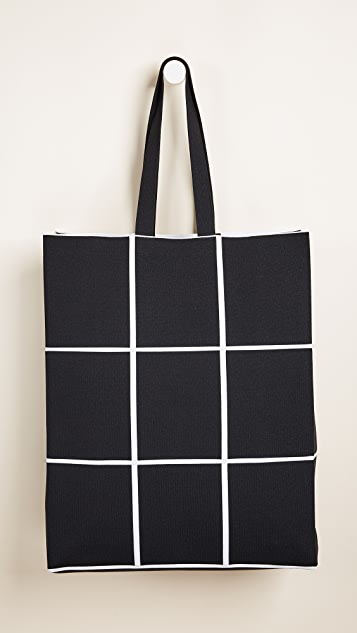Courreges Fabric Grid Bag
