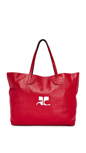 Courreges Leather Tote