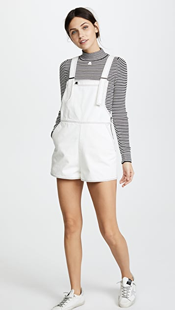 Courreges Denim Overall Shorts