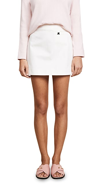 Courreges Mini Skirt with Pocket