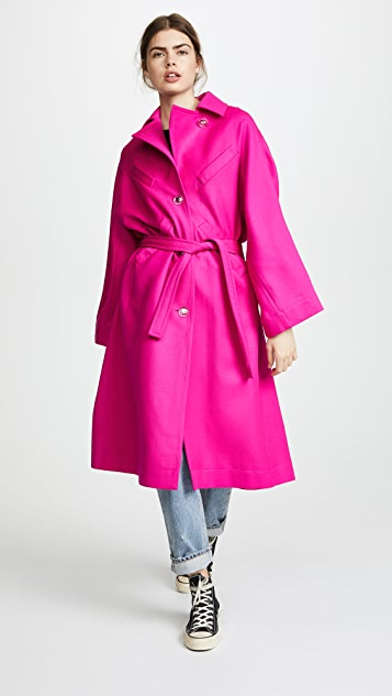 Courreges Oversized Trench Coat