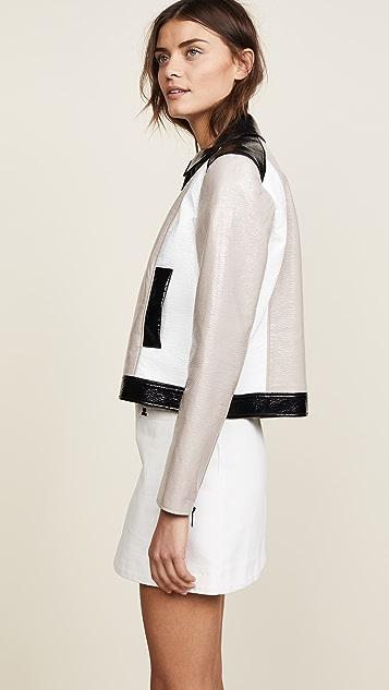 Courreges Short Zipped Tricolor Jacket