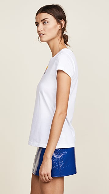 Courreges Short Sleeve Tee with Rainbow