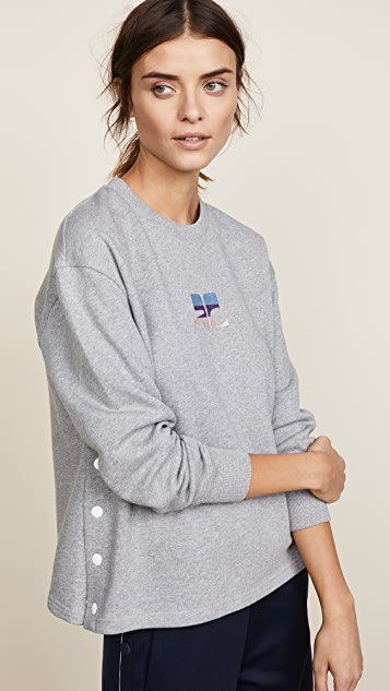 Courreges Logo Side Snapped Sweatshirt