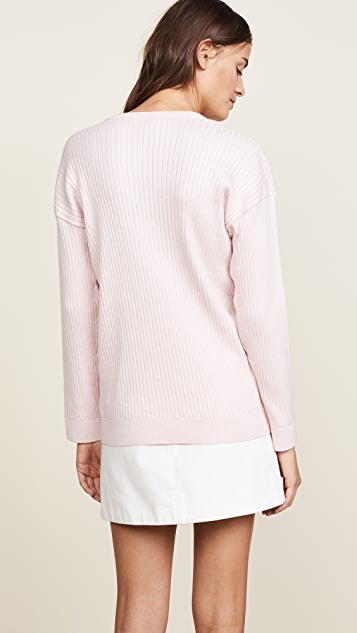 Courreges Oversized Long Sleeves Pullover