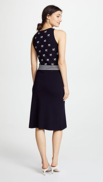 Courreges Midi Jacquard Dress
