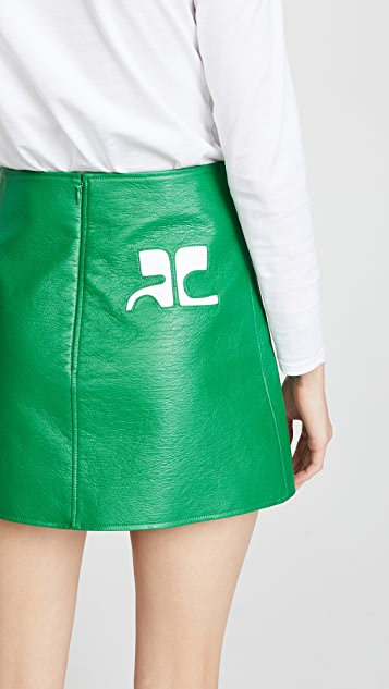 Courreges Back Logo Miniskirt