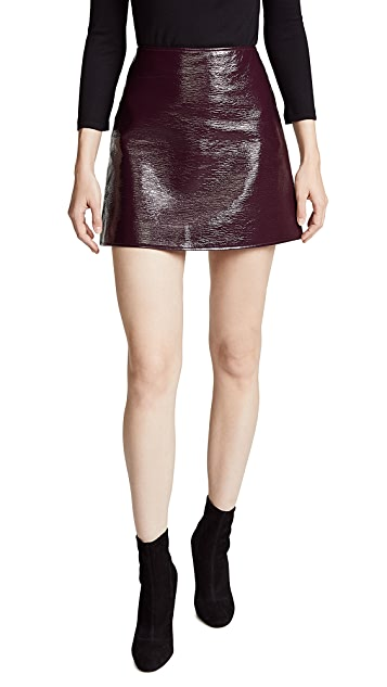 Courreges Vinyl Mini Skirt