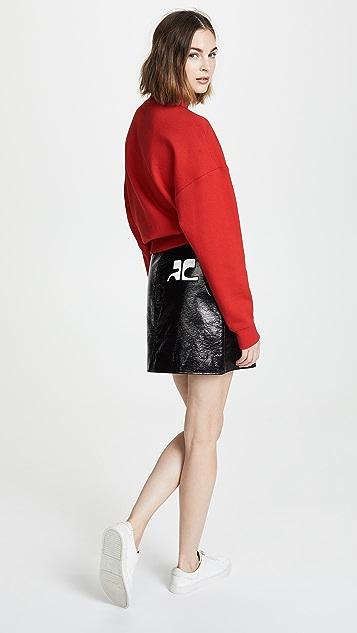 Courreges Vinyl Mini Skirt