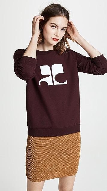 Courreges Logo Sweatshirt